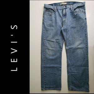 Levis 505 Men's Denim Blue Straight Fit Jeans 40